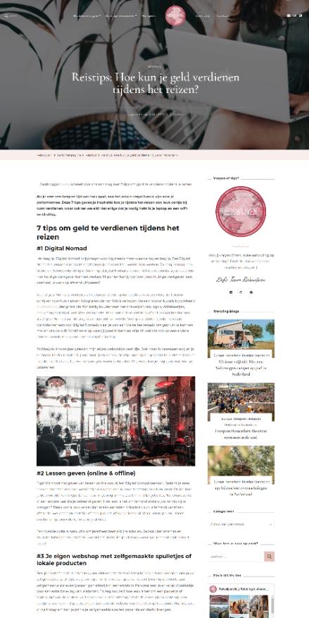 Blog voor reiswijven.nl