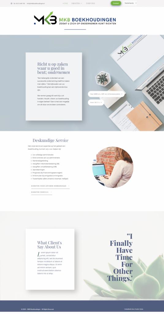 MKB Boekhoudingen web design Studio Globe