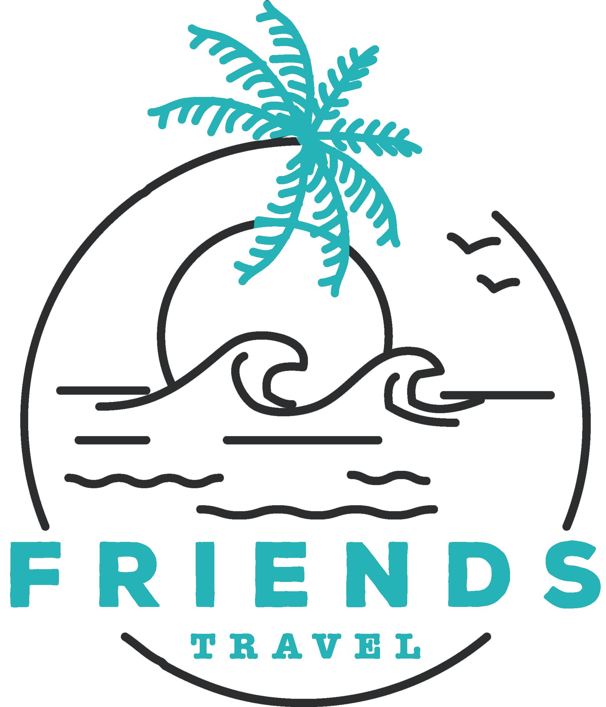 Friends travel logo color