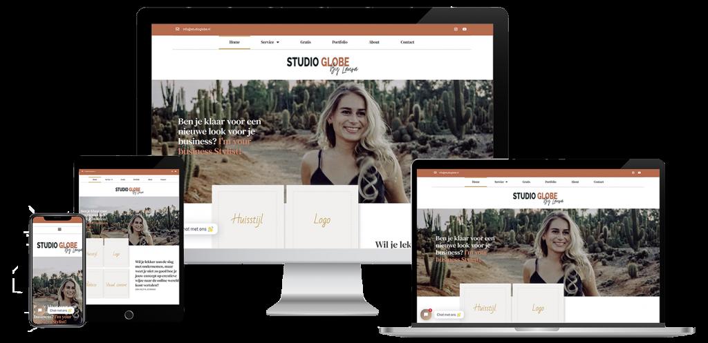 Mockup webdesign studio globe